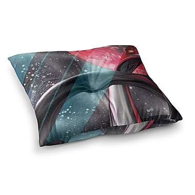 East Urban Home Infinite Spray Art Geometric Mars Square Floor Pillow; 23'' x 23''