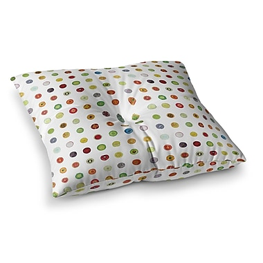 East Urban Home Theresa Giolzetti Fruit Pattern Painting Square Floor Pillow; 26'' x 26''