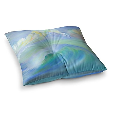 East Urban Home Theresa Giolzetti Jelly Fish Square Floor Pillow; 23'' x 23''