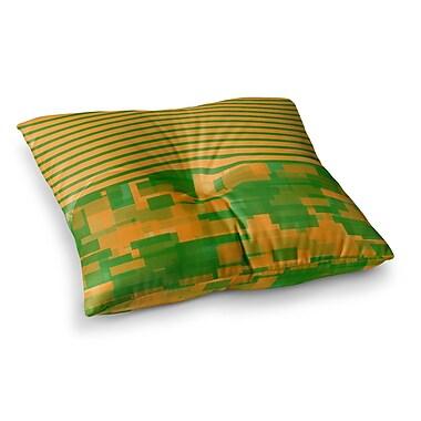 East Urban Home Trebam Listati V2 Modern Vector Square Floor Pillow; 26'' x 26''
