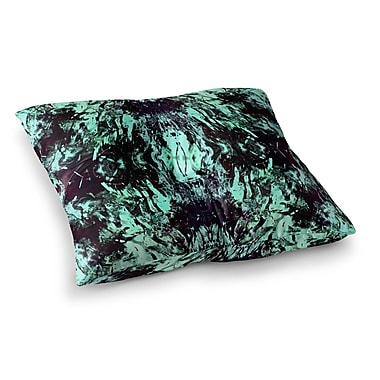 East Urban Home Vasare Nar Abstract Mixed Media Square Floor Pillow; 26'' x 26''