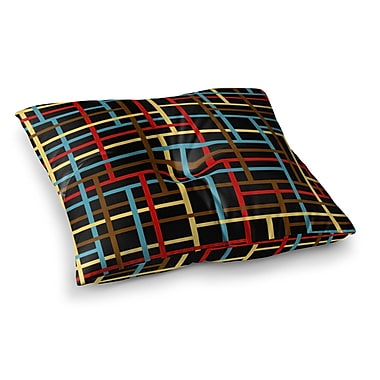 East Urban Home Zara Martina Mansen Flora Formations Square Floor Pillow; 23'' x 23''