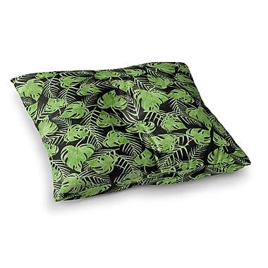 East Urban Home Strawberringo Leaves Square Floor Pillow; 26'' x 26''