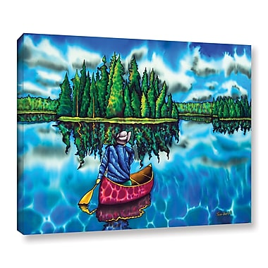 Winston Porter 'Canoeing Ontario' Painting Print on Wrapped Canvas; 24'' H x 32'' W x 2'' D