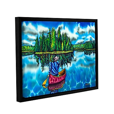 Winston Porter 'Canoeing Ontario' Framed Painting Print on Wrapped Canvas; 8'' H x 10'' W x 2'' D