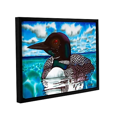 Winston Porter 'Loon under a Canadian Sky' Framed Graphic Art on Wrapped Canvas