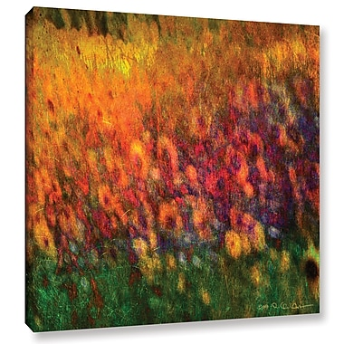 August Grove Sunflowers Painting Print on Wrapped Canvas; 14'' H x 14'' W x 2'' D