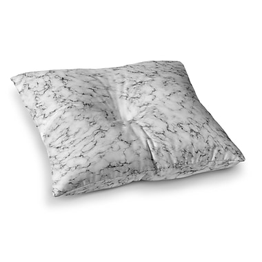 East Urban Home Will Wild Marble Square Floor Pillow; 26'' x 26''
