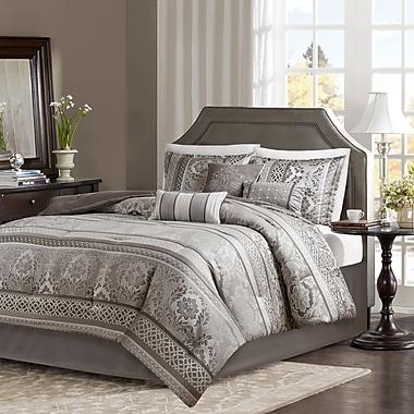 Astoria Grand Bartle Jacquard 7 Piece Comforter Set; Queen