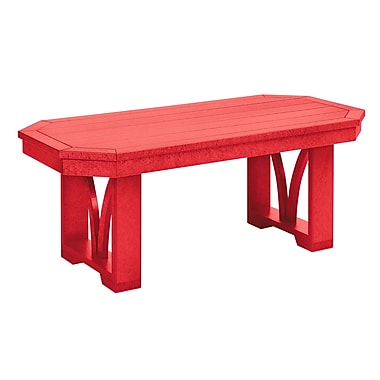 Bayou Breeze Raja Rectangle Coffee Table; Red