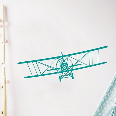Decal House Airplane Nursery Wall Decal; Turquoise