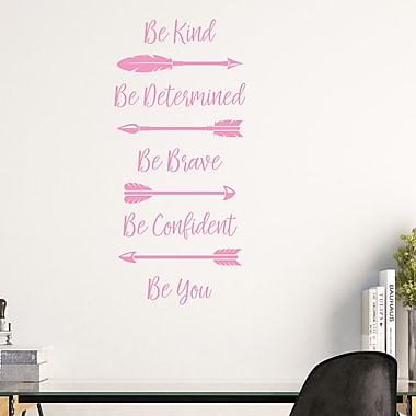 DecaltheWalls Be Kind, Be Determined, Be Brave, Be Confident, Be You w/ Arrows Vinyl Wall Decal