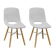 Corrigan Studio Jedidiah Upholstered Dining Chair (Set of 2); Light Gray