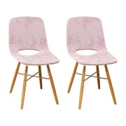 Corrigan Studio Jedidiah Upholstered Dining Chair (Set of 2); Pink