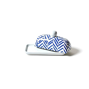 Coton Colors Herringbone Domed Butter Dish