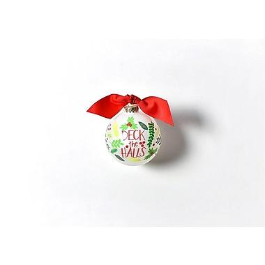 Coton Colors Deck The Halls Glass Ball Ornament