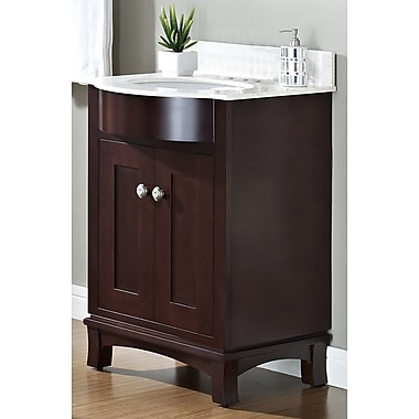 Darby Home Co Kester Transitional 24'' Wood Single Bathroom Vanity Set; Single
