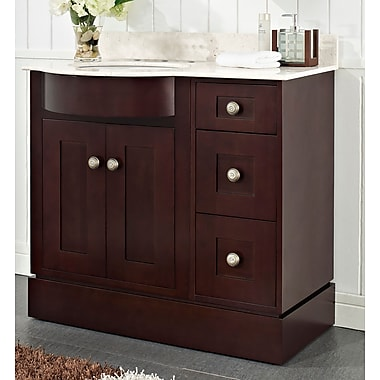 Darby Home Co Kester Transitional 48'' Wood Single Bathroom Vanity Set; 8'' Center