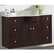 Darby Home Co Kester 48'' Single Bathroom Vanity Set w/ Stone Top; 8'' Center