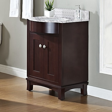 Darby Home Co Kester 24'' Rectangle Wood Single Bathroom Vanity Set; 4'' Center