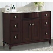 Darby Home Co Kester Transitional 48'' Single Bathroom Vanity Set w/ Stone Top; 8'' Center