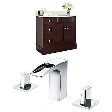 Darby Home Co Kester 36'' Single Bathroom Vanity Set w/ Stone Top; Biscuit