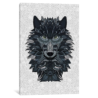 East Urban Home 'Wolf' Vertical Graphic Art on Wrapped Canvas; 12'' H x 8'' W x 0.75'' D