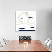 East Urban Home 'Stars of Libra' Graphic Art on Wrapped Canvas in White and Blue