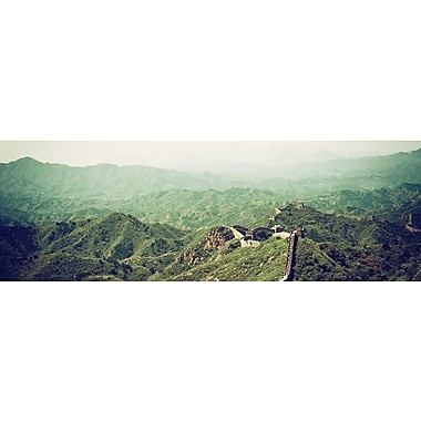 East Urban Home 'Great Wall of China II' Rectangle Photographic Print on Wrapped Canvas