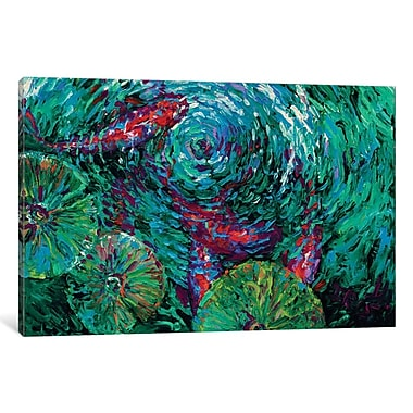 East Urban Home 'Serenity Spiral' Rectangle Painting Print on Wrapped Canvas