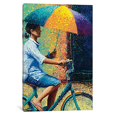 East Urban Home 'My Thai Sunbrella' Rectangle Painting Print on Wrapped Canvas