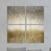 Everly Quinn 'Magari Quadratic' 4 Piece Painting Print on Wrapped Canvas Set