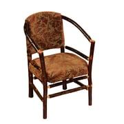 Fireside Lodge Hickory Hoop Barrel Chair ; Black