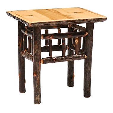 Fireside Lodge Hickory End Table; Traditional Hickory