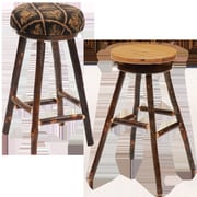 Fireside Lodge Hickory 24'' Swivel Bar Stool; Stallion