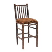 Fireside Lodge Hickory 24'' Bar Stool; Mesa Espresso