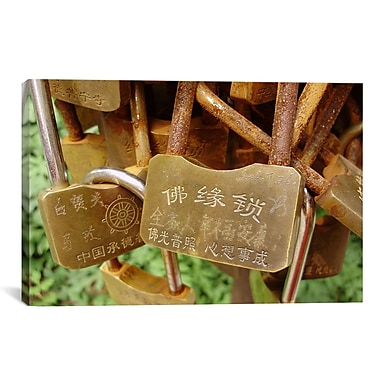 East Urban Home 'Photography Buddhist Locks At Puning' Photographic Print on Canvas