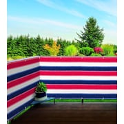 Imperial Home 3' x 15' Patriotic Stylish Outdoor Balcony Deck Fence Privacy Screen