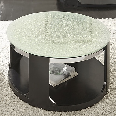 Latitude Run Charly Cracked Glass Coffee Table