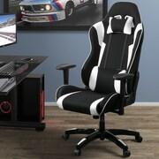 Latitude Run High Back Ergonomic Gaming Chair; Black/White