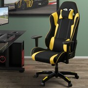 Latitude Run High Back Ergonomic Gaming Chair; Black/Yellow