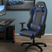 Latitude Run High Back Ergonomic Gaming Chair; Gray/Blue