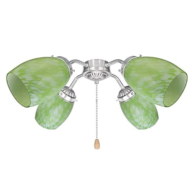 Latitude Run 3.6'' Glass Oval Fan Fitter Shade (Set of 4)
