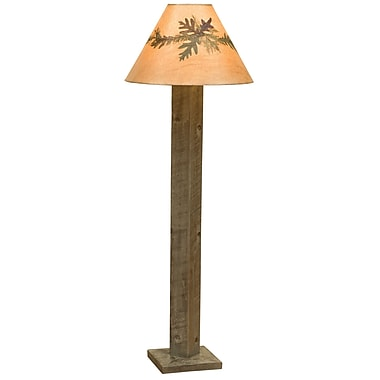Fireside Lodge Frontier 58'' Floor Lamp; Driftwood