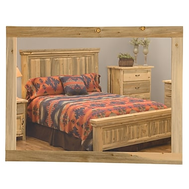 Fireside Lodge Blue Stain Pine Mirror without Glass; 48''W