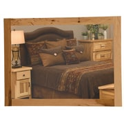 Fireside Lodge Simply Hickory Mirror; 36'' H x 36'' W