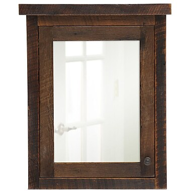 Fireside Lodge Barnwood 32'' x 32'' Recessed Medicine Cabinet; Right