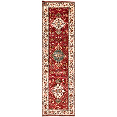 Fleur De Lis Living Castellanos Traditional Hand Knotted Wool Red Area Rug