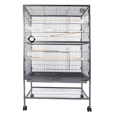 Fur Family Parrot Stand Bird Cage w/ Casters