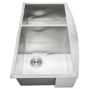GoldenVantage 33'' X 22'' Double Basin Farmhouse Kitchen Sink w/ Dish Grid and Drain Strainer Kit